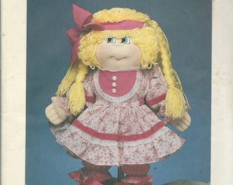 1984 Dollcraft Cuddle Kids Sewing Craft Pattern - BUBBLES DOLL PATTERN - Soft Sculpture Collette Walsh for Dollcraft - Doll Body & Clothes