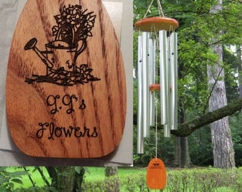 Personalized Wind Chimes - GG's Flowers - Engraved Chimes - Garden Gift - Holiday Gift - Hostess Gift - Housewarming Gift - Yard - Garden