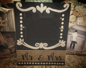 Painted wedding frame