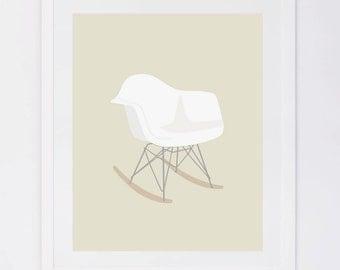 Eames Rocker, Nursery Digital Print