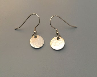 Sterling Silver Disk Earrings