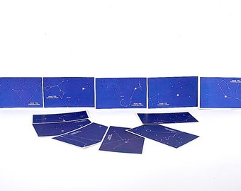 Zodiac Constellation Cards - Constellation Flash Cards - Zodiac Cards - Astrological Signs - Zodiac Star Constellations - Astronomy Gift