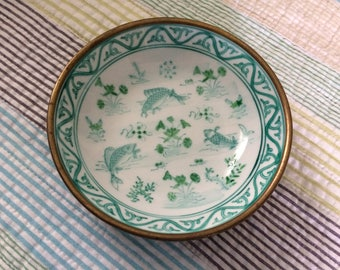 Hand Painted Koi Fish Japanese Porcelain Ware Bowl
