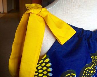 BEAUTIFUL AFRICAN Print  PILLOWCASE Girls Dress. Party dress, church dress, spring dress, Summer wear, great gift idea.