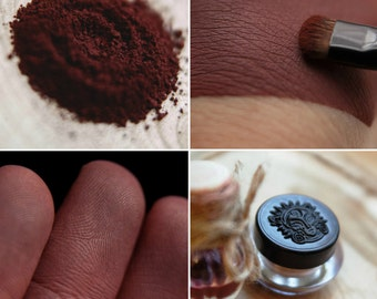 Eyeshadow: Knowing a lot about Wine- Dark Castle. Wine-brown matte eyeshadow by SIGIL inspired.
