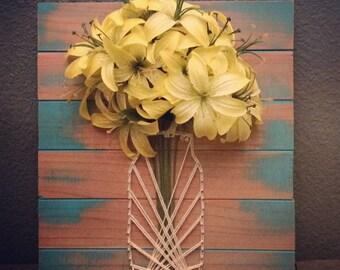 Lily Flower String Art