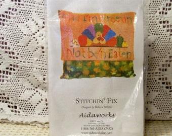 Stitchin' Fix Cross Stitch Kit - Glad I'm Greetin - Aidaworks Designed By Rebecca Fertitta - Unopened Kit