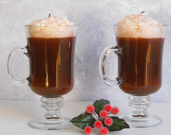 Hot Chocolate Candle with Gel Wax and Paraffin Wax - Set of  2