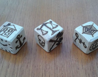 Wooden Fortune Telling Dice