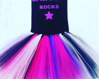 Rock Star Tutu Set, I'm A Rock Star Tutu Set, Rock Star Outfit, Rock Star Clothing, Girl's Birthday Outfits, Rock Band Set, Rock Start Skirt