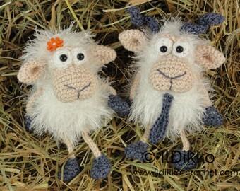 Amigurumi Crochet Pattern - Baarney & Baarb the Sheep