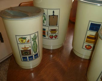 Four Piece Canister Set from 1960s