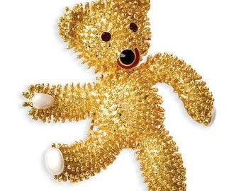 Jackie Kennedy Bear Pin - John-John's Teddy Bear, Box and Certificate