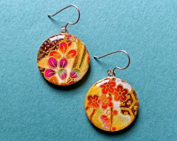 Flower earrings, floral earrings, flower jewelry, floral jewelry, boho jewelry, boho earrings, bohemian earrings, bohemian jewelry