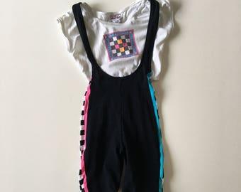 Vintage 80's Gymnastics Aerobic Outfit for Toddler Girl Gymnastics Vintage Spandex