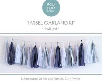 DIY Tassel Garland Kit   Twilight