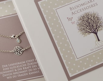 BRACELET life tree 925 Sterling Silver gift box