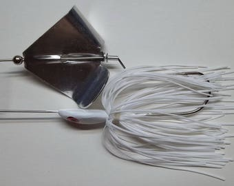 """1/2 ounce """"Head Thumper""""  Topwater Buzzbait in White - Bass Fishing - Fishing - """"NEW"""""""