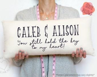 anniversary, anniversary gift for him, personalized pillow, anniversary pillow, anniversary gift, personalized name throw pillows, custom