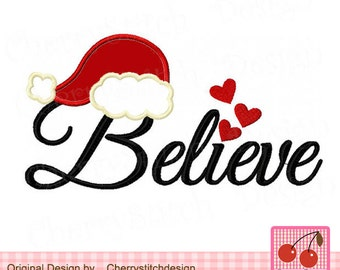 """Believe Christmas embroidery design CH0086 -4x4 5x5 6x6"""""""