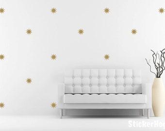 Starburst Pattern Mini Wall Decals Graphic Vinyl Sticker Bedroom Wall Home Decor