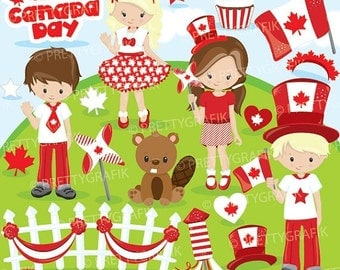 80% OFF SALE Canada day clipart commercial use, vector graphics, digital clip art, digital images - CL878