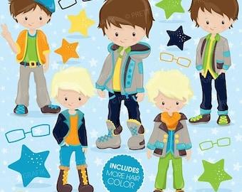 80% OFF SALE Fashion boys clipart commercial use, kid clipart vector graphics, boy digital clip art, digital images - CL777