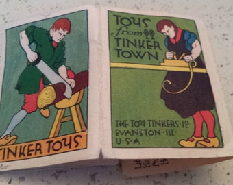 Tinker Toy Fold Out Catalog of Toys