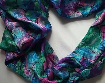 Infinity flora Scarf-Loop Infinity Scarf-Women Scarf-Gift Scarf-Spring Scarf