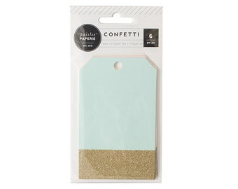 Confetti Glitter Gift Tags | Pastel Gift Tags | Pastel Party | C'est La Vie Collection | Pink Paislee | Assorted Pastel Gift Tags