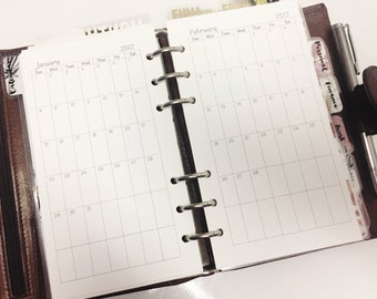 Month on 1 Page Planner Insert