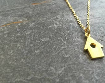 SPECIAL EDITION Bird House Necklace/Bird House Jewellery/Bird Necklace/Little Bird House/Alzheimer's/Charity/Bird House Pendant