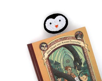 Book mark, Penguin, paper clip bookmark, felt bookmark, gifts for book lovers, page marker, jumbo paper clips, planner clip, kids bookmarks
