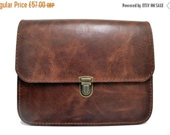 ON SALE Handmade Leather Shoulder Bag