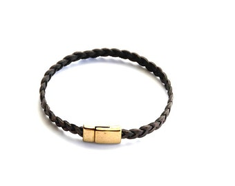 Vintage Brown Leather Bracelet