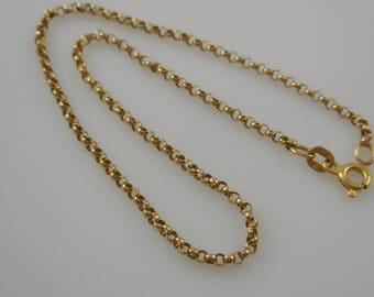 Anklet  14K Yellow Gold Anklet 10''