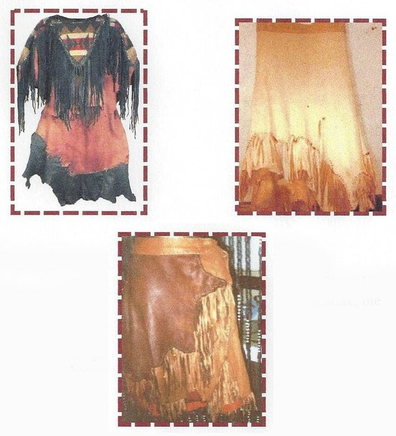 "Blackfoot Indian Deer Hide Skirt Sewing Pattern Waist 30-36"" by SparrowHawk - Native American, Pow Wow, Historic Clothing"