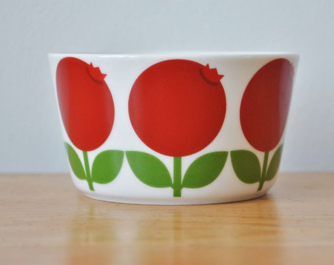 Swedish Lingonberries Dessert or Fruit Bowl Scandinavian Modern