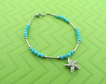 stainless steel starfish bracelet