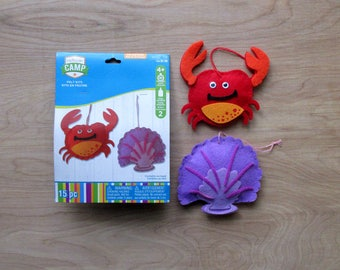 Camp Felt Kit  Crab and Shell Child' s Craft Kit  Kid's Craft Kit  Nautical