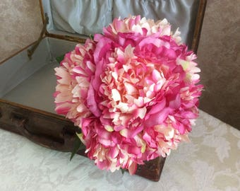 Bridal bouquet designed with peonies