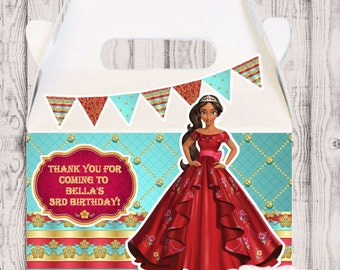 Elena of Avalor party favor box, Elena of Avalor gable box, 10 Elena of Avalor party favor gable box, Elena of Avalor favor box