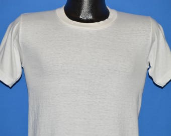 70s Reis Blank White Soft t-shirt Small