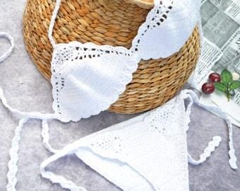 Crocheted customize Brazilian bikini Swimwear women Womens bikini swimsuits by TTAcc