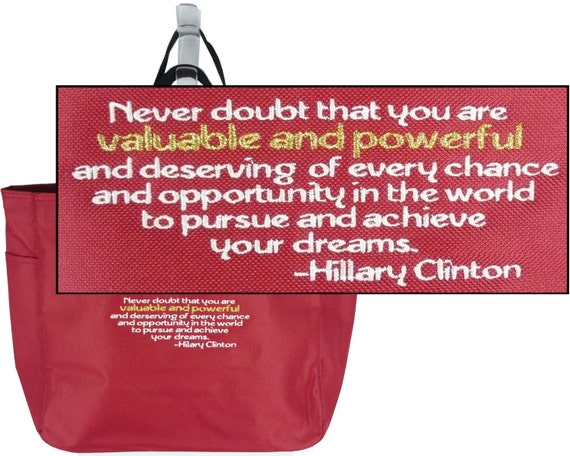 Hillary clinton inspirational quote essential style tote