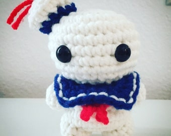Stay Puft Marshmallow Man from Ghostbusters Crochet Toy Doll