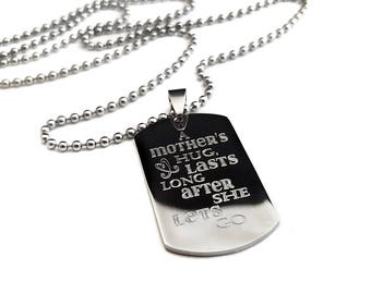 Mother son dog tag + Father son dog tag - Gift for Son + Son necklace + Fathers Day for son + Fathers's day gift for son
