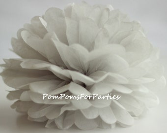 1 High Quality PALE GREY Tissue Pom Pom - Choose any of 50 colours - Hanging  Paper flower - Tissue paper balls - Tissue paper pom poms