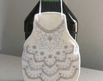 Bride Bottle Apron