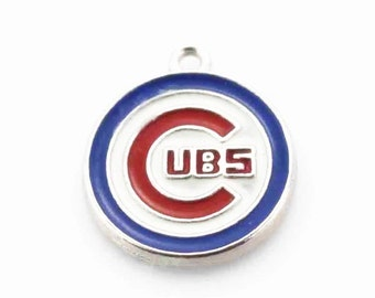 Chicago Cubs Baseball Charm